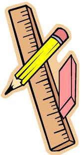 Pencil Ruler Cartoon Small Rotated