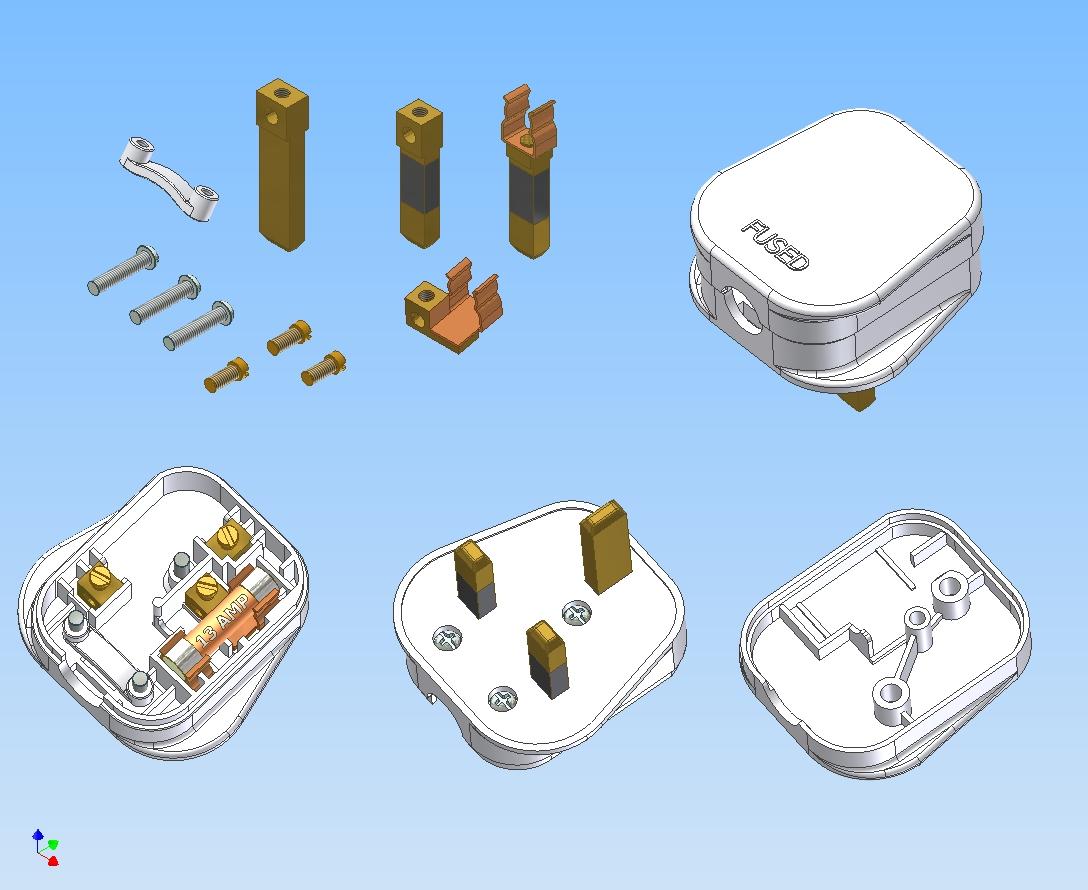 electrical plug parts - dolgular, Wiring diagram